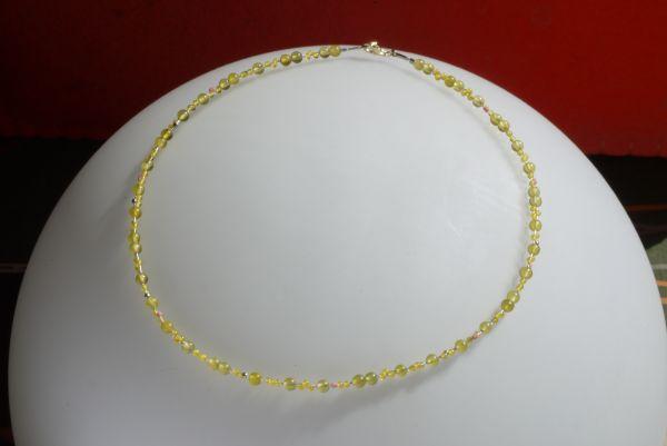 Kette Serpentin, 925%Silber vergoldet