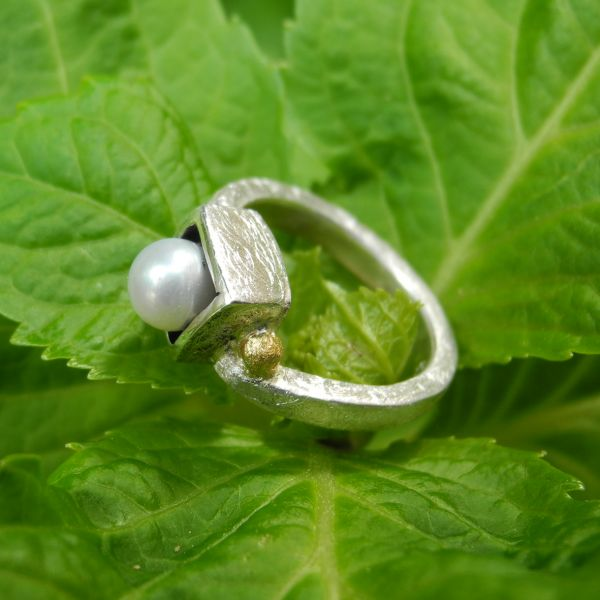 Ring SWZperle/925%Silber
